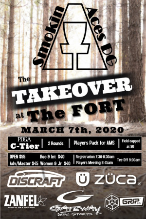 The Takeover at the Fort sponsored by Discraft graphic