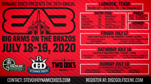 Dynamic Discs Presents the 28th Annual Big Arms on the Brazos graphic