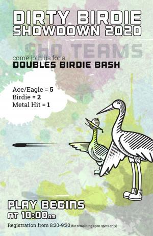 Dirty Birdie Showdown 2020 - Doubles Birdie Bash graphic