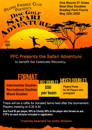 Disc Golf Safari 2020 - Celebrate Recovery Morton IL graphic
