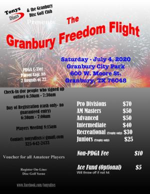 Freedom Flight - Granbury graphic