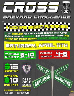 Cross Brevard Challenge -  A Wickham Park Basket fundraiser graphic