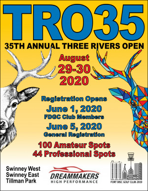 35th Annual Three Rivers Open presented by DreamMakers Automotive graphic
