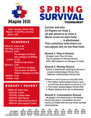 Maple Hill Spring Survival graphic