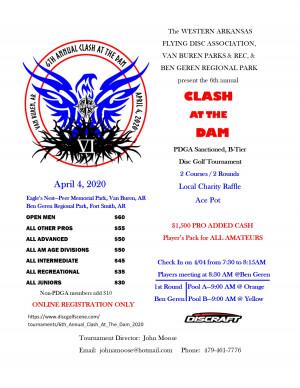 6th Annual Clash At The Dam (cancel in progress) graphic