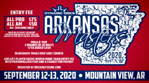 2020 Arkansas Masters Sponsored by Dynamic Discs graphic