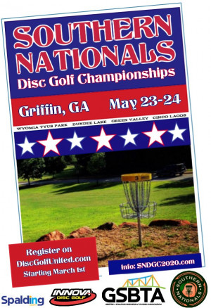 Southern Nationals Disc Golf Championships graphic