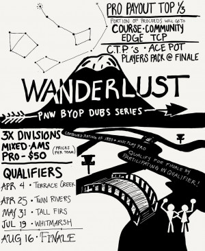 Wanderlust - PNW BYOP DUBS Qualifier #3 Tall Firs graphic