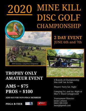 2020 Mine Kill Disc Golf Championship graphic