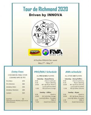 Tour de Richmond 2020 Driven by INNOVA graphic