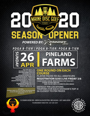 Maine Disc Golf Tour Season Opener - Powered By: Prodigy Disc graphic