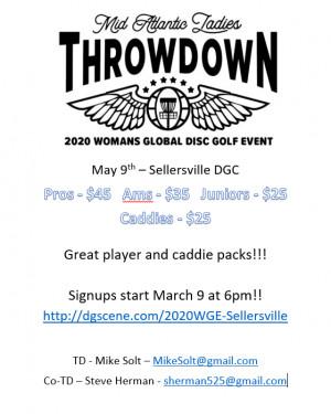 2020 Womens Global Event - Mid Atlantic Ladies Throwdown (Caddie Registration) graphic