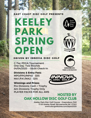 Keeley Park Spring Open Driven By Innova graphic