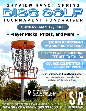2020 Skyview Ranch Spring Tournament Fundraiser graphic