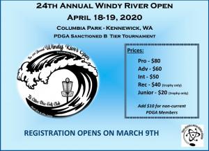 24th Annual Windy River Open graphic