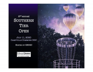 Southern Tier Open 2020 sponsored by Dynamic Discs & Edward Jones graphic