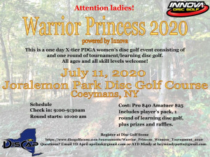 Warrior Princess Women's Tournament, Driven by Innova graphic