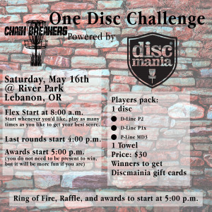 Chain Breakers One Disc Challenge Powered by Discmania graphic