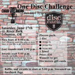 2nd Annual Chain Breakers One Disc Challenge Powered by Discmania graphic