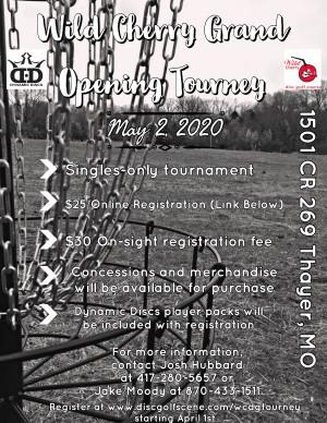 Wild Cherry Grand Opening Tournament graphic