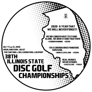 38th Illinois State Disc Golf Championships - All Divisions graphic