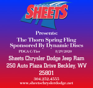 Sheets Chrysler Dodge Jeep Ram Presents: The Thorn Spring Fling Sponsored by Dynamic Discs graphic
