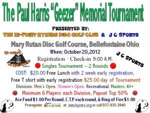 "The Paul Harris ""Geezer"" Memorial Tournament graphic"