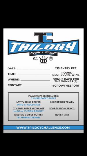 Trilogy challenge Travis White Disc Golf Park El paso graphic