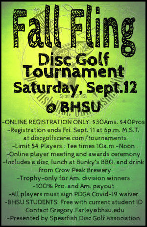 Black Hills State University Fall Fling 2020 graphic