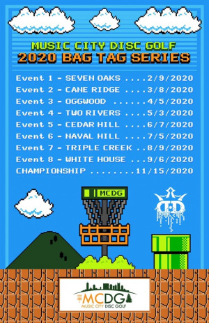 *Music City Disc Golf 2020 Bag Tag Series Event 4 @ Two Rivers Sponsored By Dynamic Discs graphic