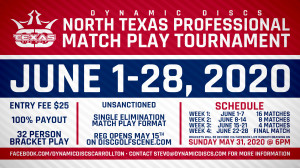 Dynamic Discs North Texas Professional Match Play Tournament graphic