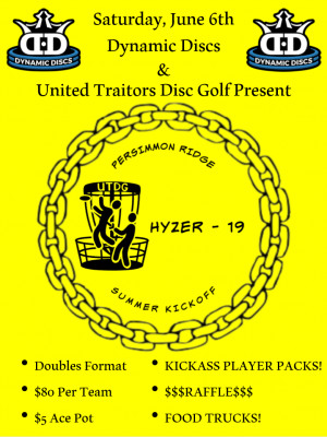 Dynamic Discs and UTDG Present HYZER-19 Doubles graphic