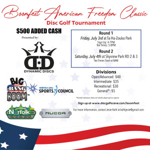 Boomfest American Freedom Classic- Presented by Dynamic Discs graphic