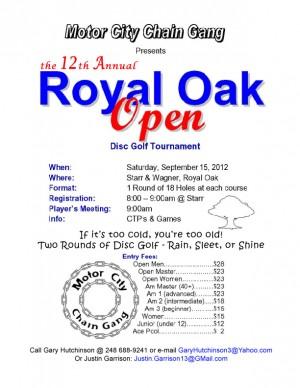 12th Annual Royal Oak Open graphic
