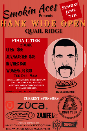 Smokin Aces presents HANK WIDE OPEN: Driven by Innova graphic
