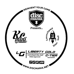 Liberty Gold Sponsored By Discmania graphic
