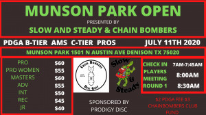 Munson Park Open graphic
