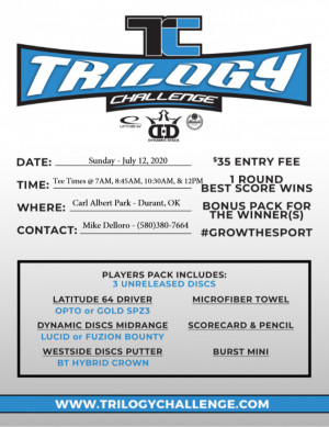 Trilogy Doubles Challenge Hosted by Big Foot Disc Golf Shop graphic