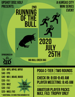 2nd Running of the Bull Sponsored by Dynamic Discs graphic