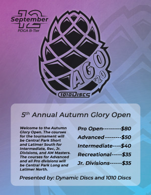 The 5th Annual Autumn Glory Open Presented by 1010 Discs graphic