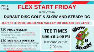 Flex Start Friday Presented by Durant DG & Slow and Steady DG graphic