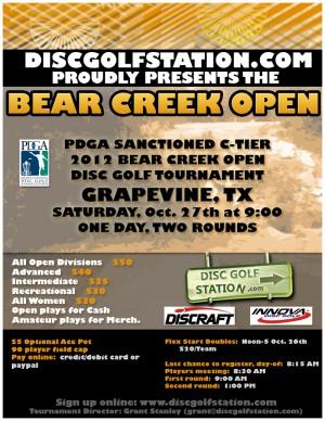 Bear Creek Open graphic