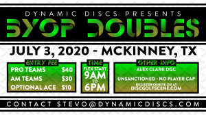 Dynamic Discs BYOP Doubles @ Alex Clark graphic