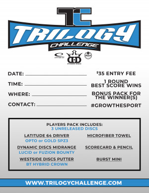 2020 Trilogy Challenge hosted by Hilltop Discgolf graphic