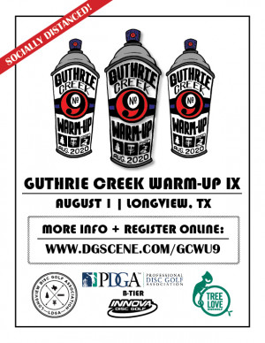 Guthrie Creek Warm Up IX - Presented by LDGA + Driven by Innova graphic