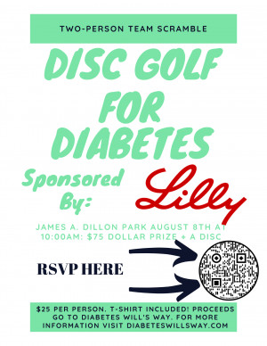 Disc Golf For Diabetes graphic