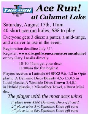 Trilogy Ace Run at Calumet Lake! graphic