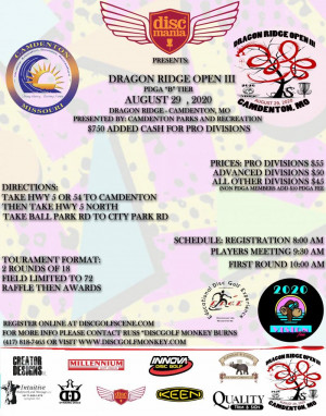 Disc Mania presents: The 3rd Annual Dragon Ridge Open graphic