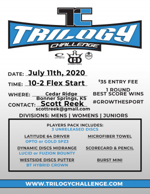 2020 Trilogy Challenge - Cedar Ridge Bonner Springs graphic