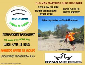 10th ANNUAL OLD MAN MATTHIAS DISC SHOOTOUT graphic